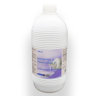 Кислородна вода 3% 1000мл.